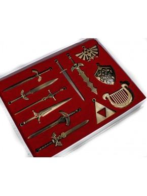 Zelda set 12 piezas espadas y colgantes