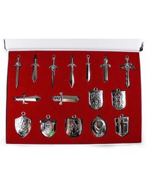 Zelda set 16 espadas y escudos plateados
