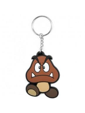 Super Mario llavero de caucho Goomba