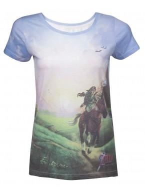 Zelda camiseta de chica azul Link