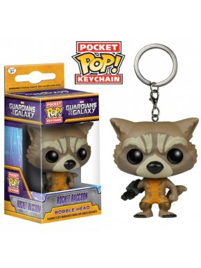 Guardianes de la Galaxia Marvel llavero mini Funko Pop Raccoon
