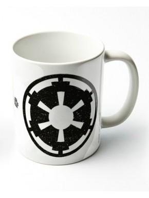 Taza Blanca Logo Imperio Star Wars
