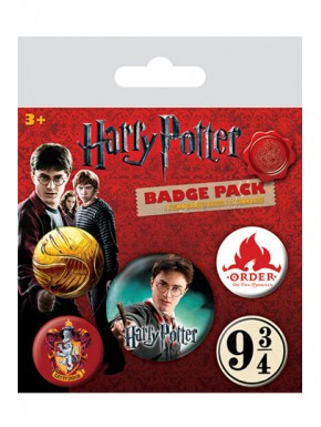 Set 5 chapas Harry Potter Gryffindor