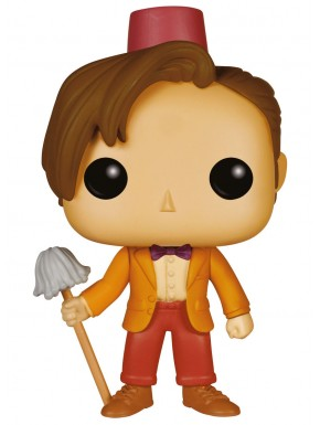 Pop 11th Doctor con Fez y Mopa