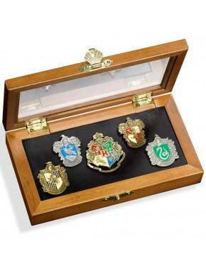 Caja de pins casas de Hogwarts