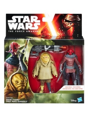 Pack Figuras Star Wars Sidon Ithano y First Mate Quiggold
