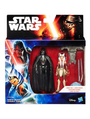 Pack Figuras Star Wars Darth Vader y Ahsoka Tano