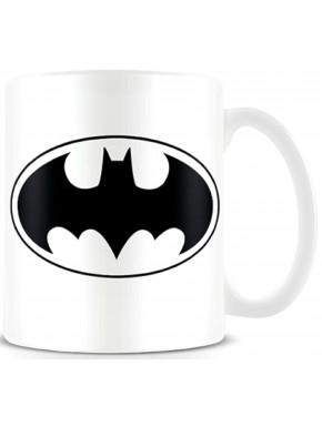 Taza Logo Batman Blanca