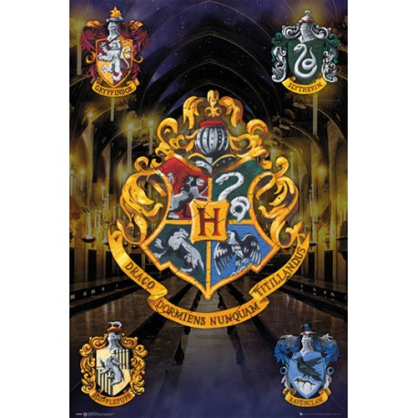 Poster harry potter escudos casas por solo - Harry potter casa ...