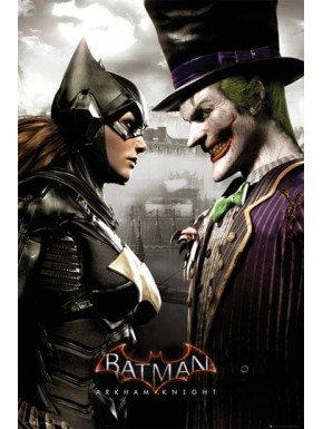 Poster Batman Arkham Knight Batgirl y Joker