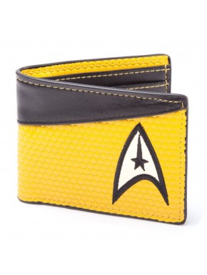 Cartera Star Trek logo Command amarilla