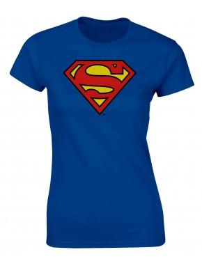 Camiseta Superman logo azul chica