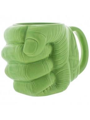 Taza cerámica Puño Hulk 400 cl