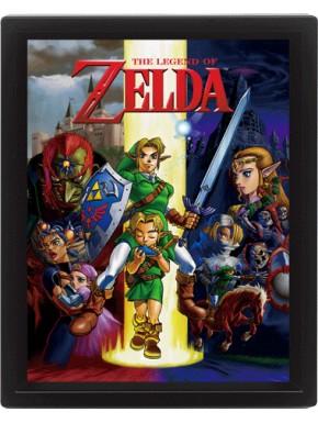 Poster Enmarcado con movimiento Zelda