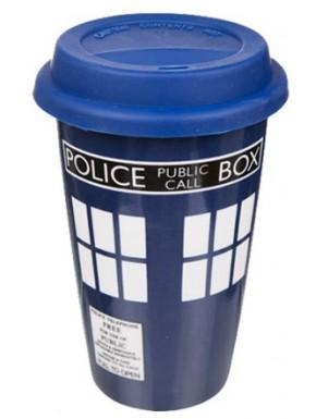 Taza de viaje Dr Who Tardis