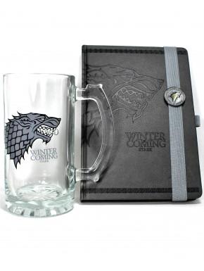 Pack Juego de Tronos Stark glass