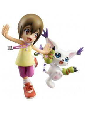 Digimon figuras de Hikari Yagami y Tailmon