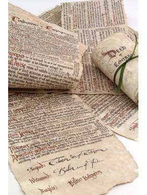 Réplica 1:1 Contrato de Bilbo El Hobbit