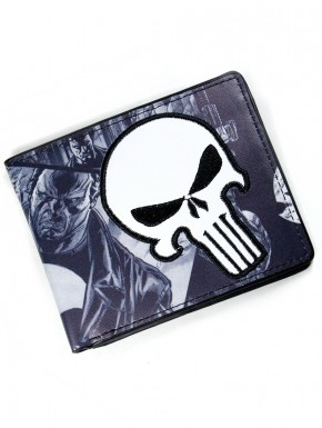 Cartera Punisher bordada