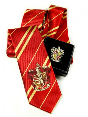 Pack corbata y broche Gryffindor