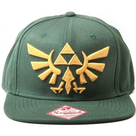 Gorra Zelda Trifuerza logo dorado verde