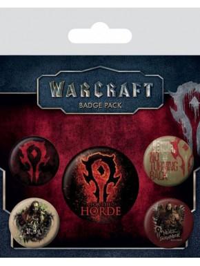 Set de chapas Warcraft la Horda