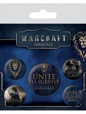 Set de chapas Warcraft la Alianza