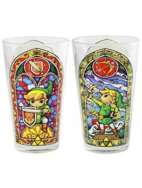 Vaso vidrieras Link de Zelda