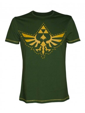 Camiseta Zelda verde Trifuerza Dorada Nintendo