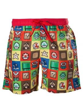 Bañador adulto iconos Super Mario