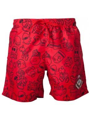 Bañador adulto Super Mario rojo