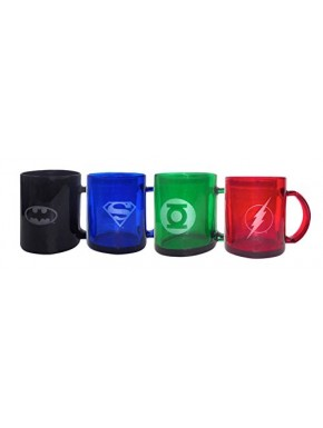 Set 4 mini tazas DC Comics glass