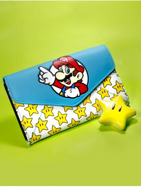 Cartera chica Super Mario Estreallas Nintendo