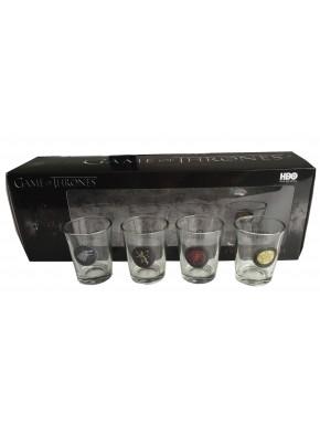 Set de 4 vasos de chupito GoT