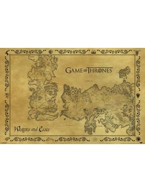 Poster mapa Juego Tronos Poniente y Essos