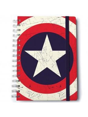 Libreta Escudo Capitán América