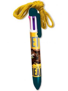 Mascotas bolígrafo 6 colores con cuerda