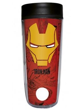 Taza de Viaje Iron Man Cómic