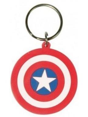 Llavero Caucho Escudo Capitán América