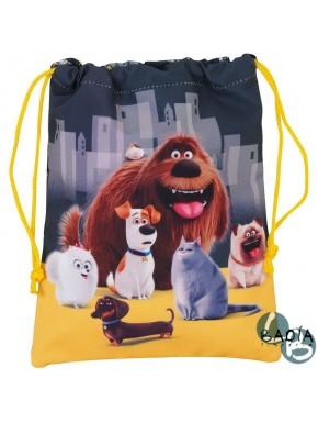 Bolsa saco portameriendas Mascotas