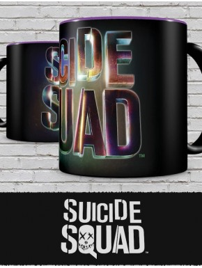 Taza Negra Logo Suicide Squad