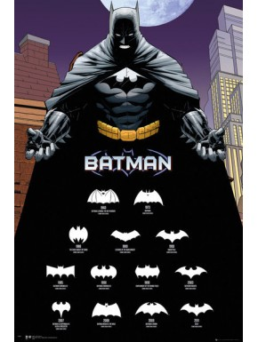 Poster Batman logo evolution