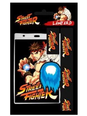 Llavero y cinta identificador Street Fighter