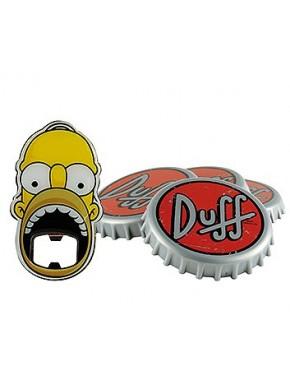 Set abrebotellas y posavasos Simpson
