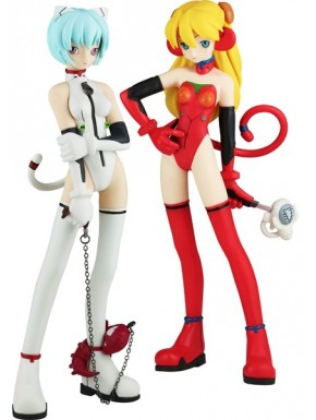 Duo Figuras Eva Ayanami Rei y Asuka Langley