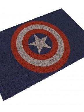 Felpudo azul escudo Capitán América