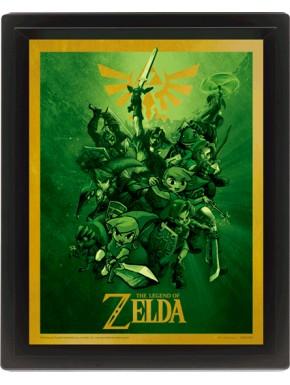Poster enmarcado con movimiento Zelda Link