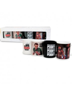 Set 4 mini tazas The big bang theory