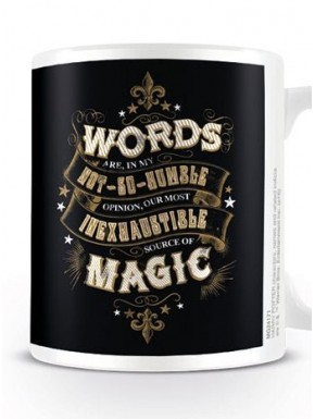 Taza Harry Potter Words Source of Magic