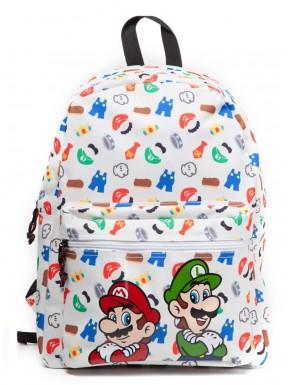 Mochila Super Mario blanca